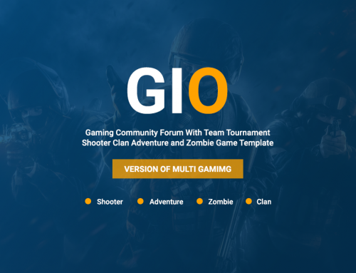 GIO is full stack gaming solution WordPress theme market ever