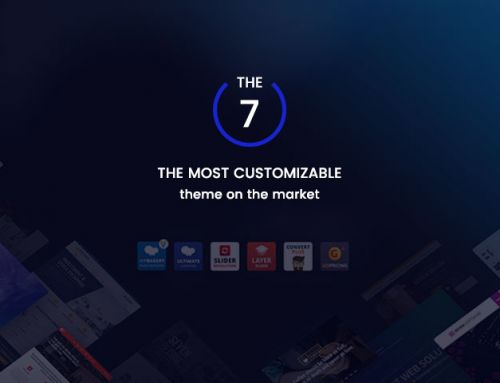 the 7 is the most customizable WordPress theme on ThemeForest