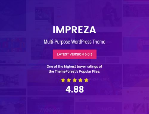 Themeforest featured top selling multipurpose WordPress theme IMPREZA